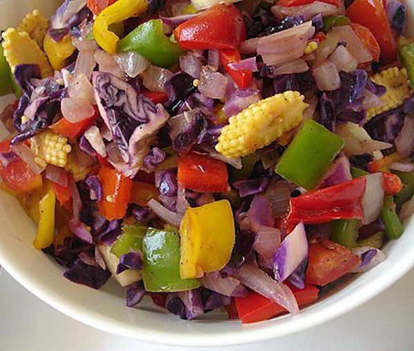 simple summertime mixed vegetables